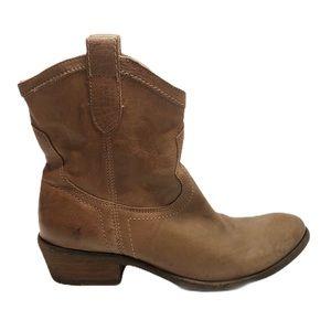 Frye Cowboy Ankle Booties Women Size 6 1/2 M